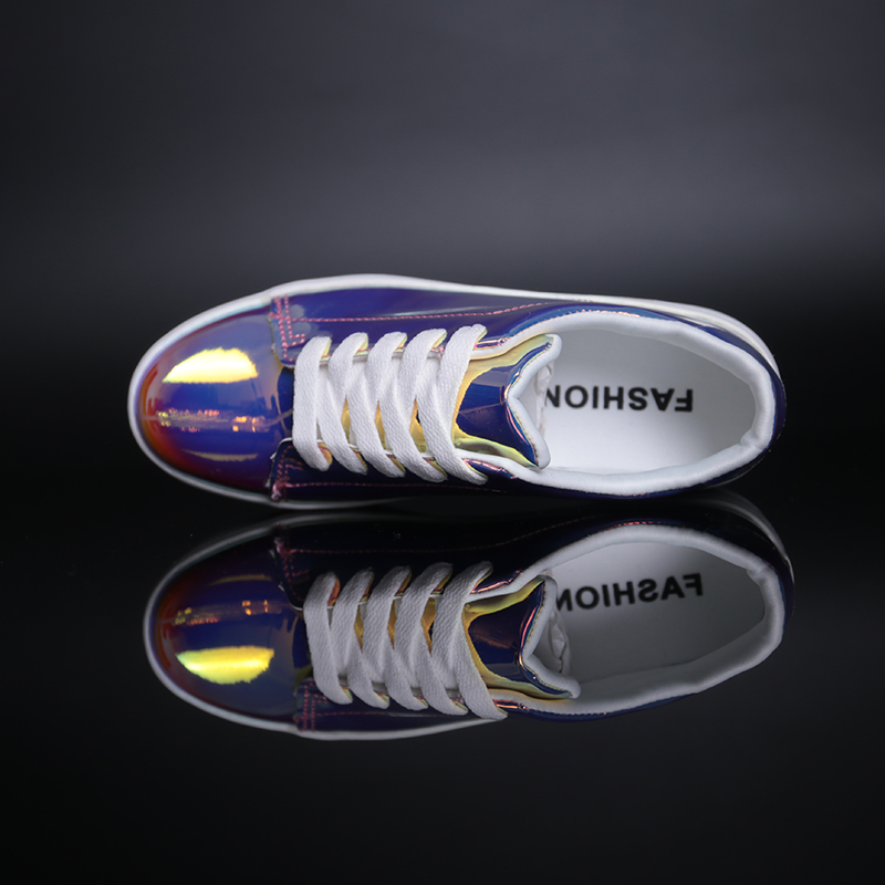 Image 5 - 2019 New Women Chunky Sneakers Casual Shoes Spring Autumn Fashion Platform Shoes Glitter Woman Luxury Shoes Women DesignersWomens Vulcanize Shoes   -