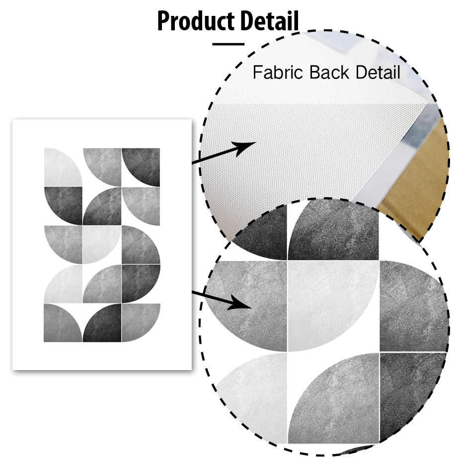 Geometry Abstract Girl Wall Art Canvas Painting Nordic Posters And Prints Black White Wall Pictures For Living Room Home Decor