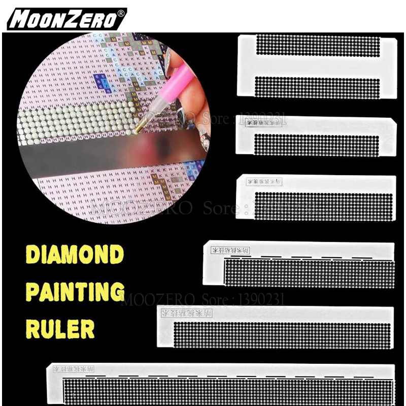 Diamond Painting Ruler Round Drill Tool Magic Tool Diamond Embroidery Grid Ruler Stainless Steel Ruler Tool