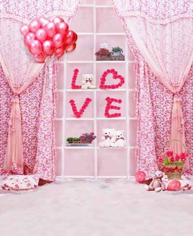 Pink Room Love Art Camera Photo Photography Digital Backdrop Cloth Backgrounds Muslin Vinyl Background Spray Painted