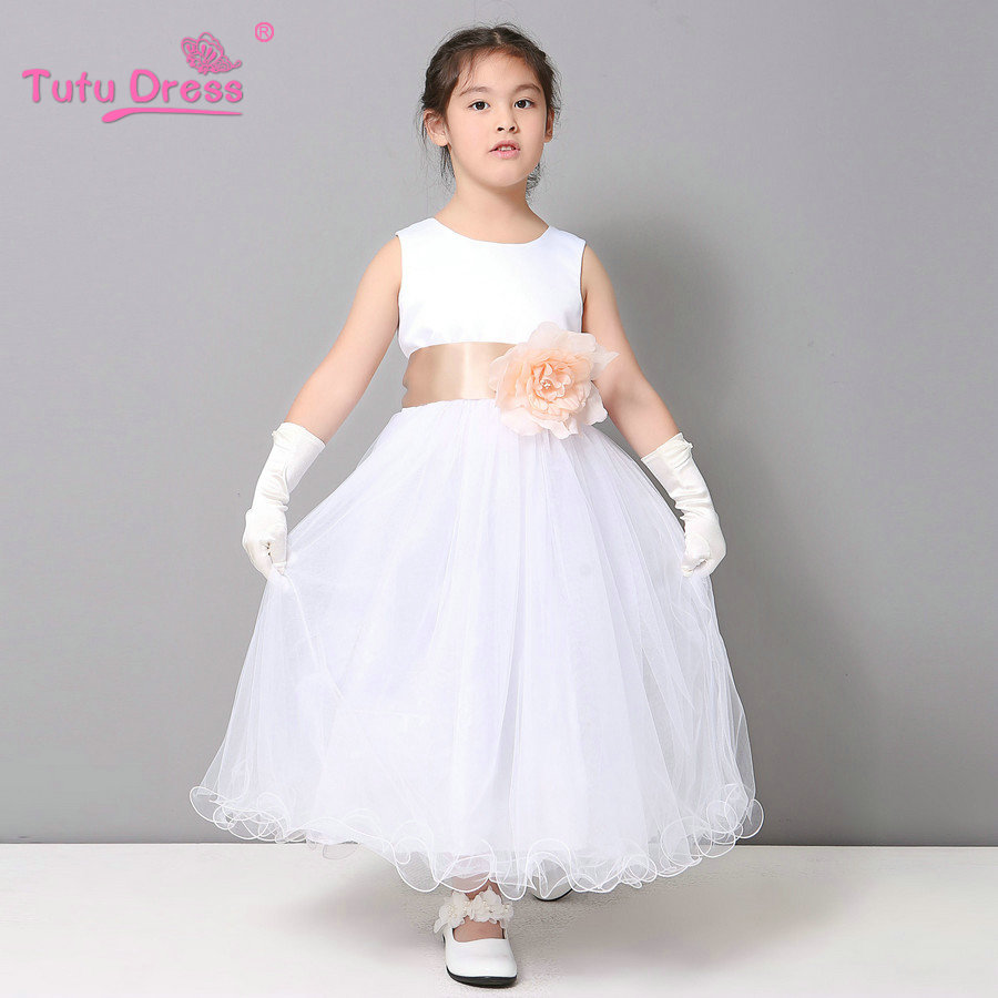 Girls White Princess Dresses