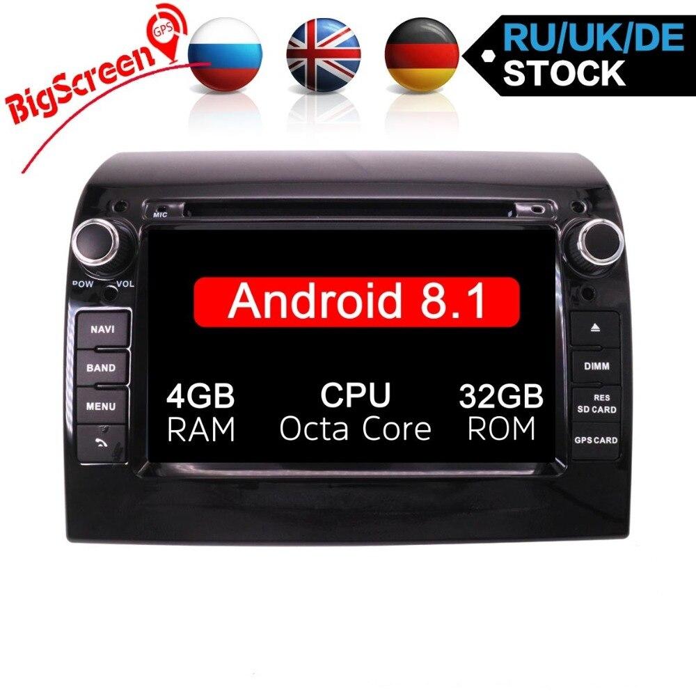 Android8.1/8.0 Voiture Lecteur DVD GPS de Navigation Multimédia Stéréo Pour Fiat Ducato 2008-2015 CITROEN Jumper PEUGEOT Boxer auto Radio