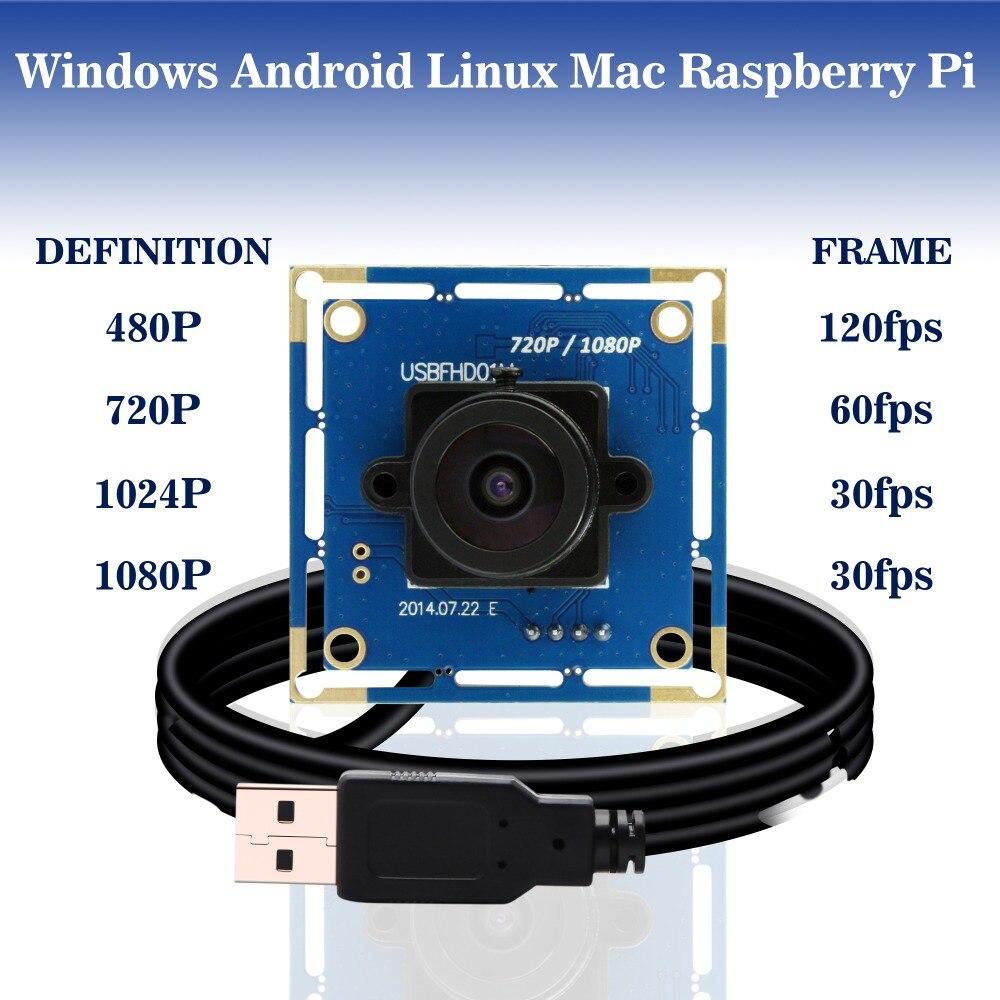 Module de caméra usb 1080 p full hd MJPEG & YUY2 OV2710 cmos android linux raspberry pi pour équipement de machines