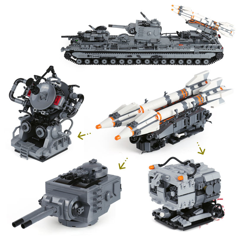 XingBao 06006 Block 3663Pcs Creative   Military Series The KV-2 Tank Set children Educational Building Blocks Bricks Toy [small particles] buoubuou creative puzzle toy toy bricks 30 16219 new military military series
