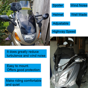 Image 2 - Universal Motorcycle Windshield Extension Spoiler Air Wind Deflector Moto Riser Windscreen For BMW Honda Scooter Accesssory