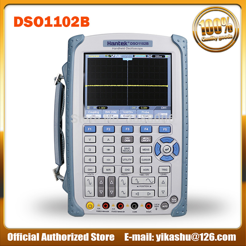 Hantek DSO1102B 2 Channels Handheld Digital Oscilloscope 100Mhz Bandwidth USB Osciloscopio 6000 Counts DMM Multimeter 1GSa