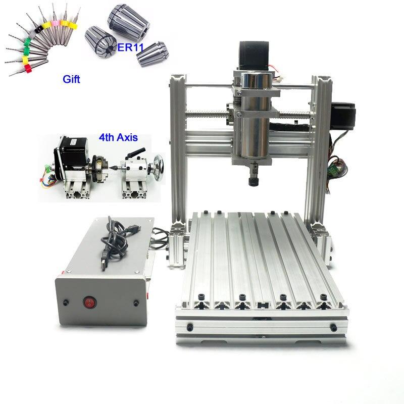 DIY CNC Routeur Machine De Gravure CNC 3020 Fraiseuse 400 w USB port Soutien Win XP Gagner 7 Gagner 8 gagner 10