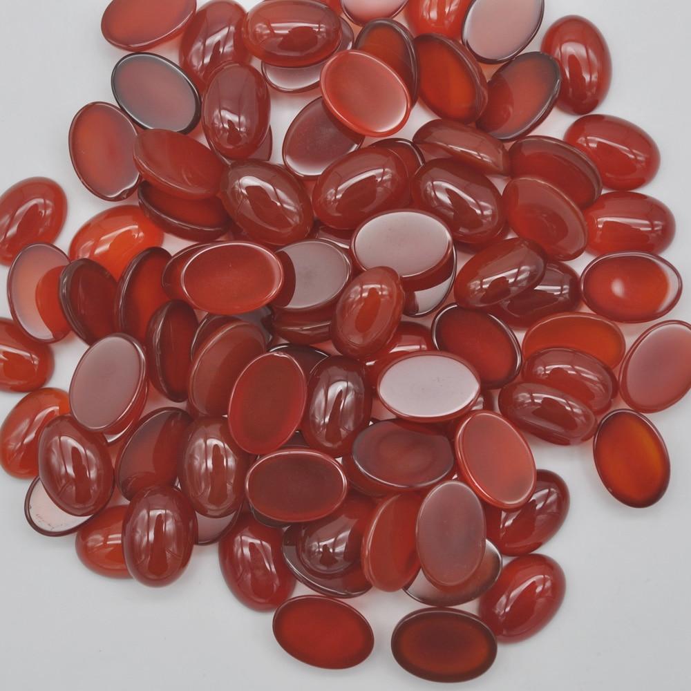 14x10MM Red Carnelian Bead Oval CAB GEM Cabochon Jewelry (10 pcs/lot) H143