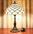 Tiffany  bar European Mediterranean bedroom bedside lamp light adjustable desk lamp beads