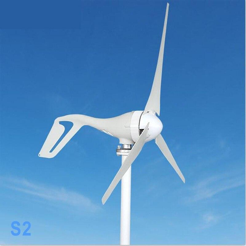 Générateur d'éolienne avec contrôleur de Charge 400 W 300 W 200 W 100 W 12 V 24 V AC 2.0 m/s démarrage à faible vitesse du vent, 3 5 pales moulin à vent