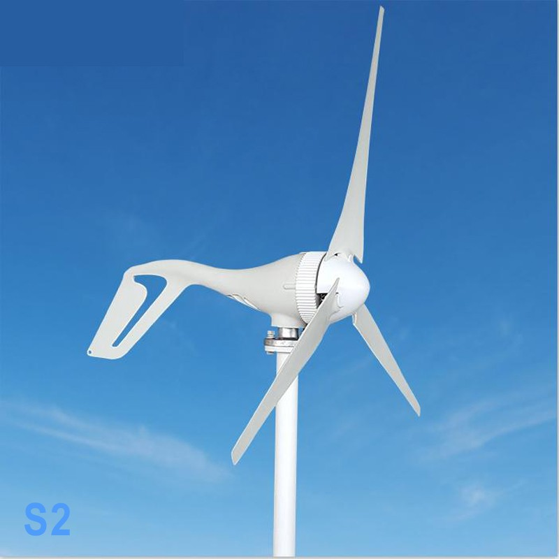 Wind Turbine Generator with Charge Controller 400W 300W 200W 100W 12V 24V AC 2.0m/s Low Wind Speed Start, 3 5 Blades windmill economy 2m s low sart up wind speed 1 4m wheel diameter 3 blades 400w wind turbine generator ac 12v or 24v