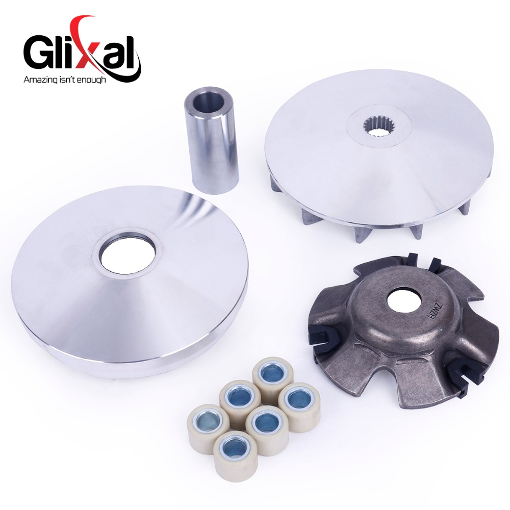 US $5 99 |GY6 125cc 150cc Variator Kit Front Clutch Drive Pulley with  Roller weights for 152QMI 157QMJ Chinese Scooter Moped Go Kart UTV on