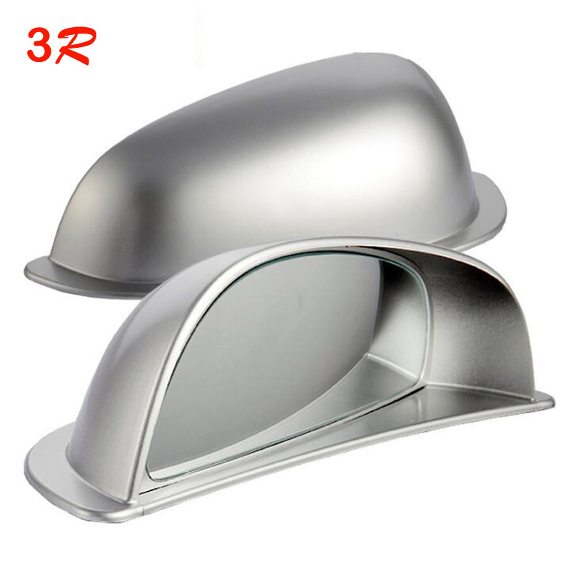 1 Pair Original 3R Adjustable Blind Spot Mirrors Car Second Row Rear View Convex Mirror Auto Wide Angle Lens free shipping 3r 036 75mm spherical convex car blind spot rearview mirror black silver