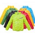 Jaqueta impermeável ultra leve infantil, casaco moda de uso externo para meninas e meninos, bebês, casaco quente infantil de inverno, vestuário infantil
