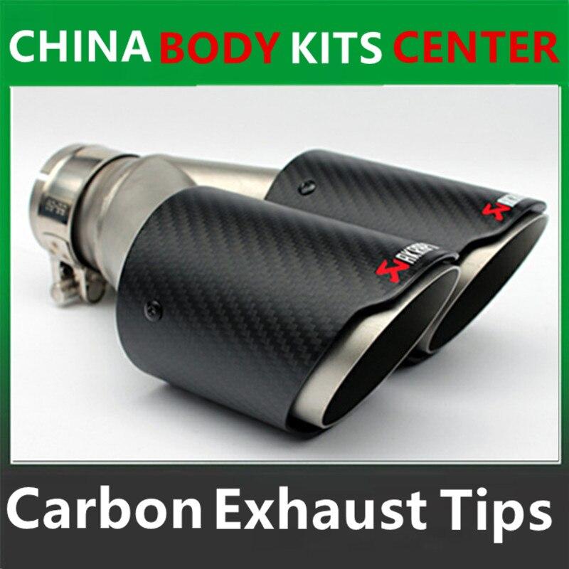 Одна пара inlet63mm outlet 89 мм (двойной) для akrapovic АК углеродного волокна кончик хвоста выхлопной трубы хвост для bmw для Volkswagen для benz