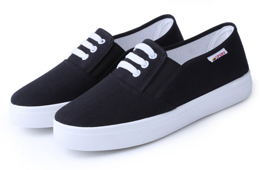Free Shipping Spring and Autumn Men Canvas Shoes High Quality Fashion Casual Shoes Low Top Brand Single Shoes Thick Sole 7583 -  -  (5) -