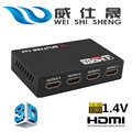 HDMI Splitter Full HD 1080p 2K*4K Video HDMI Switch Switcher 1X2 1X4 Split 1 in 2/4 Out Dual Display For DVD PS3 Xbox With Power