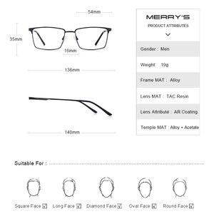Image 4 - MERRYS DESIGN Men Titanium Alloy Glasses Frame Ultralight Eye Myopia Prescription Eyeglasses Male Optical Frame S2045