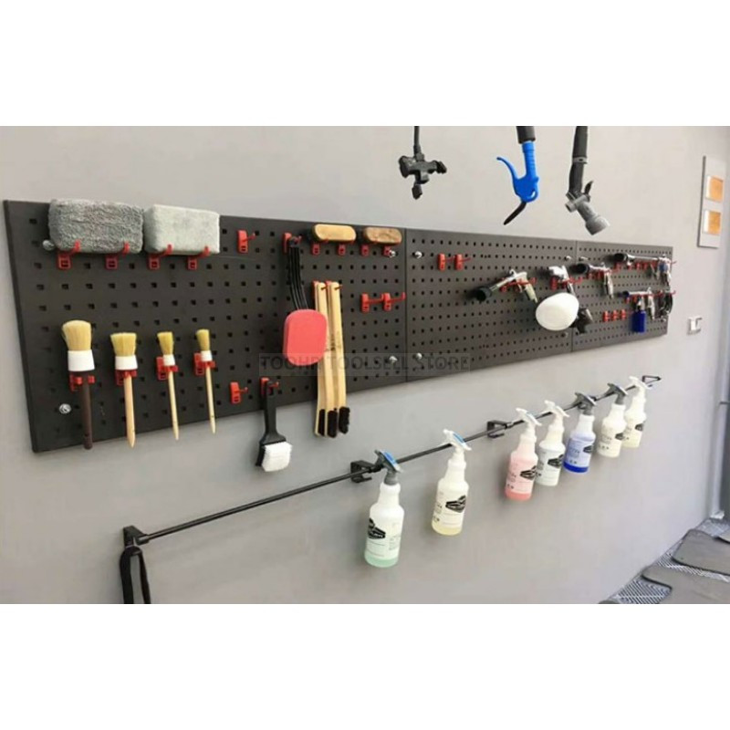 Steel Wall-Mounted Tool Parts Storage Box Garage Unit Shelving 4