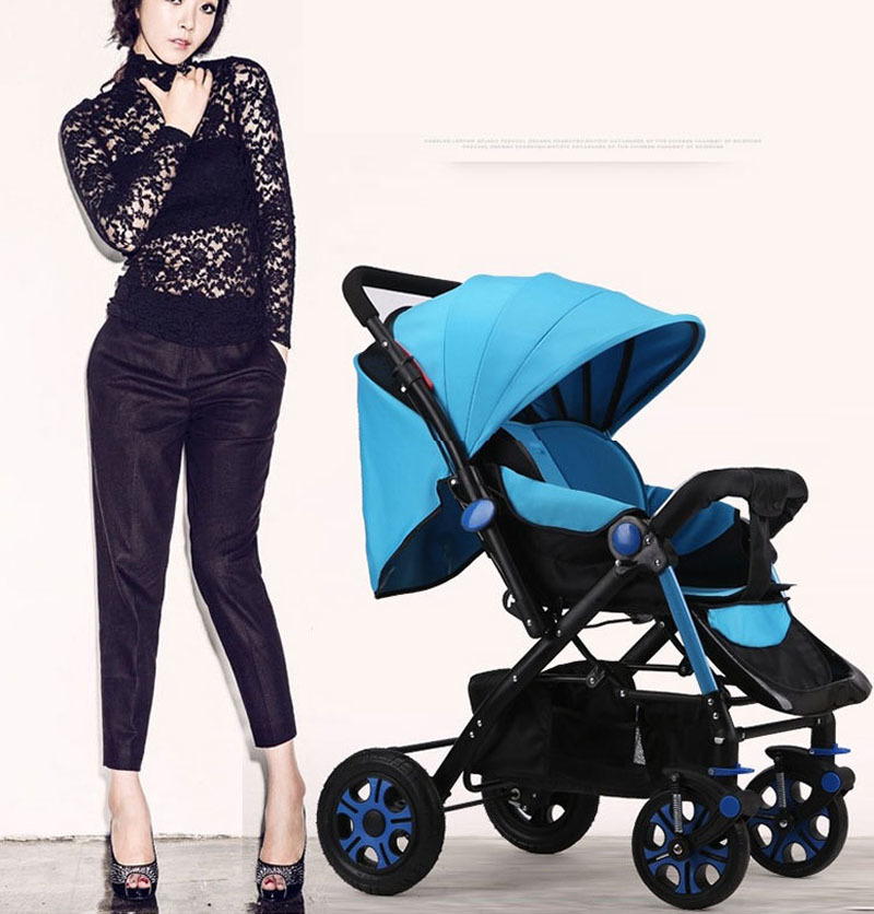 High Landscape Steel Light Baby Stroller Four Wheels Lightweight Travel Portable Umbrella Car Baby Carriage Pram Buggy Pushchair все цены
