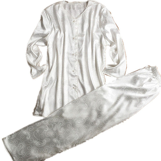 Free Shipping White New Design Home Wear Pyjamas Set Fashion Winter    Autumn Pijamas Set Women s Sexy Nightwear Pajamas Sets 002fff64e