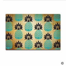Rubber Doormat For Entrance Door Floor Mat Pineapple Pattern Non-slip Doormats Outdoor Decorative Non-woven Fabric