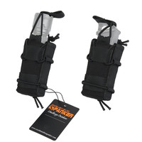 Spanker Tactical Open Top Single Magazine Pouch Molle 1050D Outdoor Tools Bag Military Multipurpose Flashlight Pistol