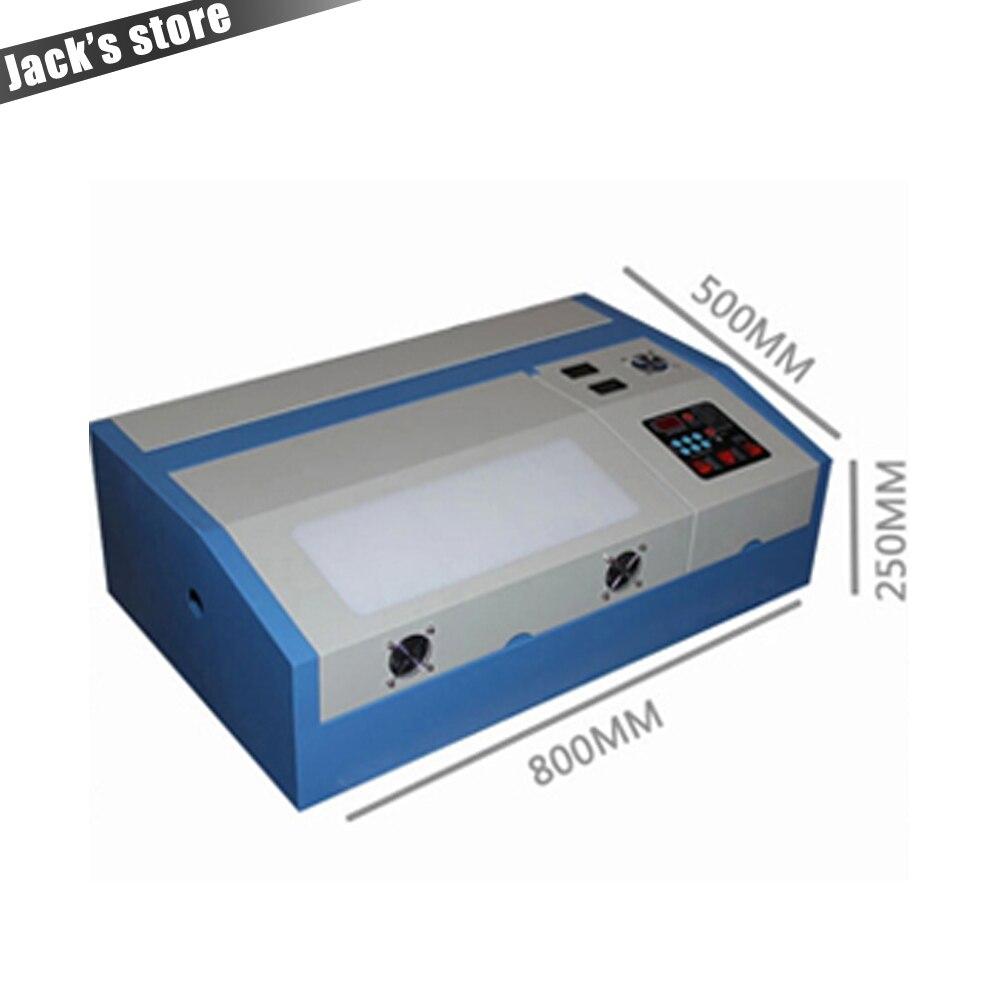 Co2 laser machine avec USB Sport 110/220 v 40 w 300*200mm Mini CO2 Graveur Laser machine De Découpe De gravure 3020 Laser