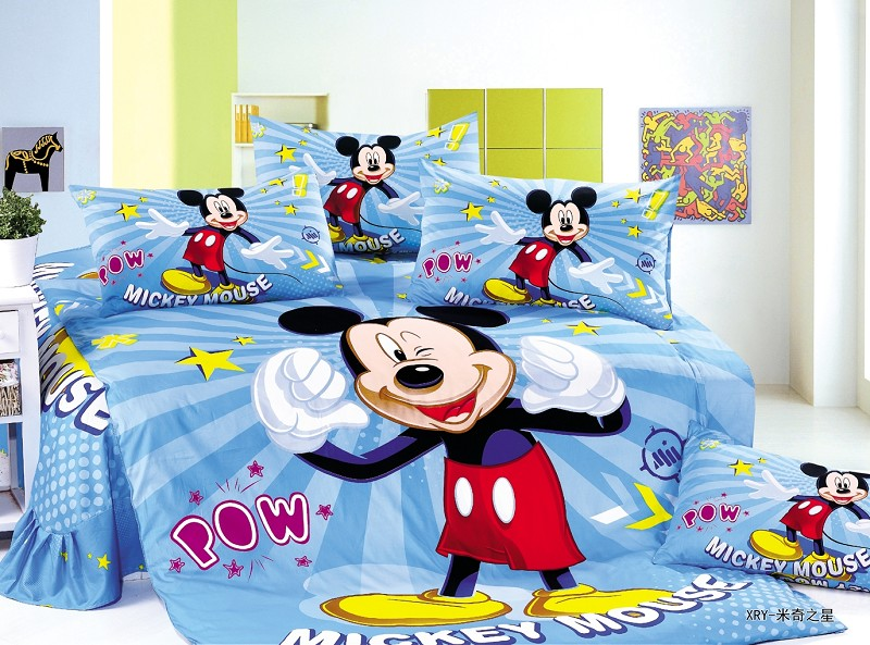 blue mickey mouse comforter bedding sets twin single size bedspread duvet covers sheets cotton 400TC Childrens boys home decorblue mickey mouse comforter bedding sets twin single size bedspread duvet covers sheets cotton 400TC Childrens boys home decor