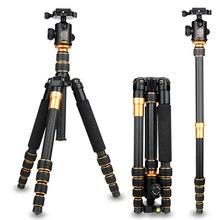 15 kg last Kamerastativ Q666C Professionelle stativ kohlefaser digital video dslr kamera stativ einbeinstativ mit panorama kugelkopf
