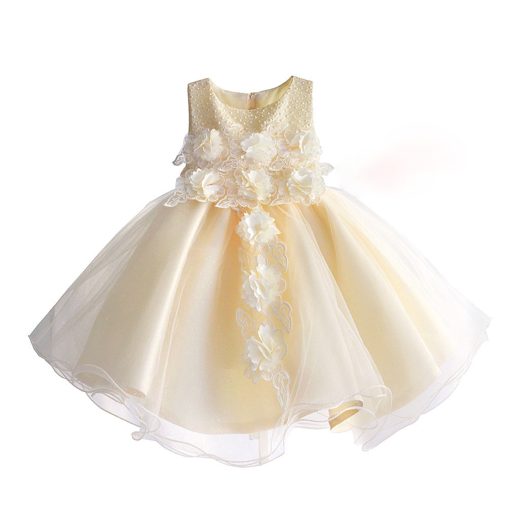 Flower Girls Dress Princess Children Wedding Party Dresses Kids Evening Ball Gown Formal Baby Girls Clothes Size 1-6T