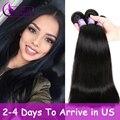 8А Класса Благодать Волосы 4 Bundle Малайзийские Виргинские Прямые Волосы Прямые Переплетения Человеческих Волос, Плетение Малайзии Прямые Волосы