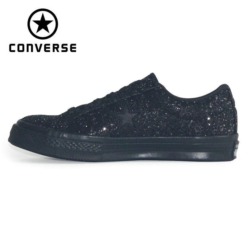 Original 1970S Converse Chuck Taylor All Star '70S  Sequins Black White Man And Women Unisex Sneakers Skateboarding Shoes