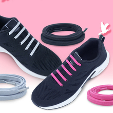 Fast Lazy Shoelace With Lock Fashion Elastic Band Buckle New Tie-free Casual 88CM Black Flat Sport