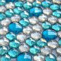 Синие мозаичные стеклянные бусины из хрусталя  стеклянная мозаичная плитка EHM1018 для кухни  декоративные плитки  бесплатная доставка