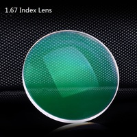 Vazrobe 사용자 컴퓨터 안경 렌즈 1.67 인덱스 수지 비구면 코팅 녹색 필름 소유 성 안티 블루 방사선 UV 눈부