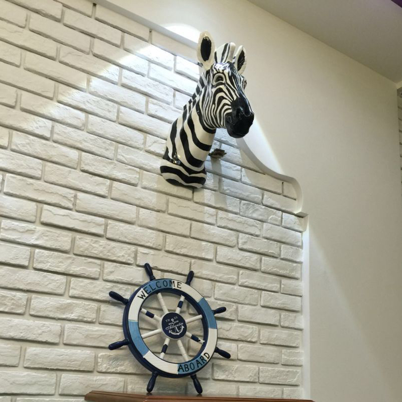 Aliexpress.com : Buy Handicrafts Wall Hanging Zebra Head Resin Wood ...