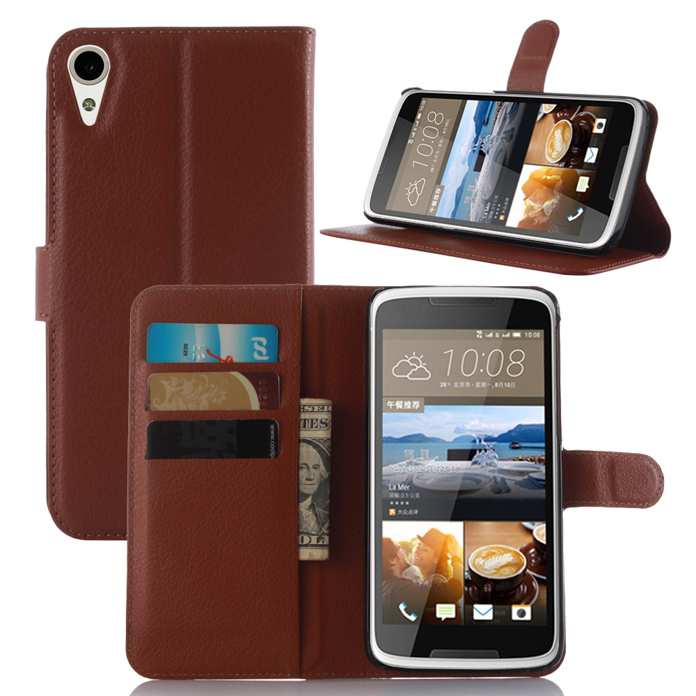 Wallet Leather Cover for HTC 828 Luxury Flip Cover for HTC 828 Phone Case Stand Magnetic Wallet