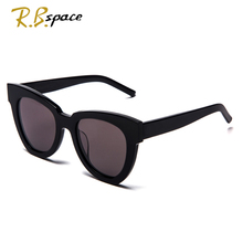 fashion big frame sunglasses  Plate lady retro brand designer cat eye sunglasses UV400 high quality polarized lady sunglasses