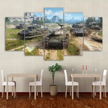 World Of Tanks Game HD Print Painting Wall Art Canvas Modern Home Decor Picture Printed Anime Poster Artwork