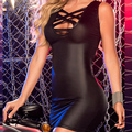 Женщины Платье Повязки ПУ Платье Из Кожи С Длинным Рукавом Sexy Party Bodycon женская Клубная Одежда Midi Платья Хип Пакет W14007