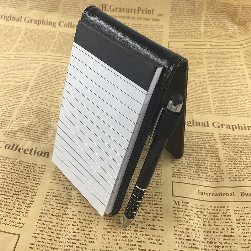 RuiZe Multifunctionele kleine notebook A7 planner lederen zak - Notitieblokken en schrijfblokken bedrukken - Foto 4