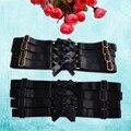 2 Дизайн Сексуальная Черная Ножка Подвязки Ремни Упругие Бедра Чулки Тела Пояса Металла Клипы Harajuku Гот Жгут Подвязки P0133