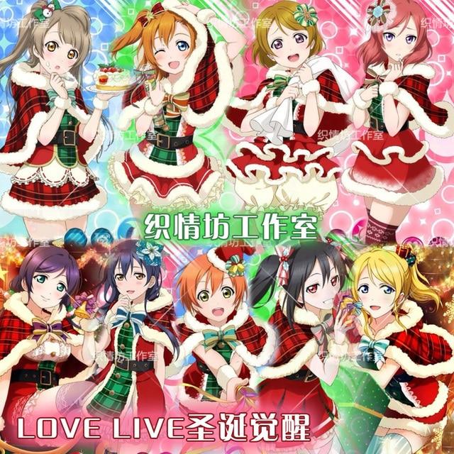 Anime Weihnachten Bilder.Us 27 99 30 Off Lovelive Weihnachten Wecken Serie Alle Charakter Cosplay Japanischen Anime Liebe Live Uniform Suit Outfit Kleidung In Lovelive