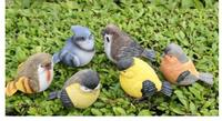 Resin crafts set six birds garden courtyard home decoration manufacturers wholesale crafts sculpture statue