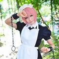 Anime Fairy Tail Virgo Cosplay Wig Pink Short Straight Heat Resistant Cosplay Full Party Wigs Free Shipping