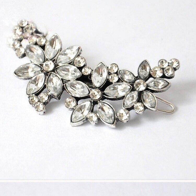 1pc Wedding Hair Accessories Accessories Silk Crystal Flower Hairpin Rhinestone Bride Hair Brush Bride Hair Jewelry
