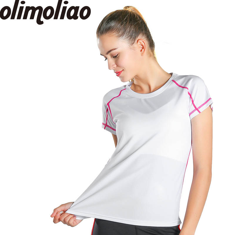 Yoga shirts woman Gym Athletic Workout Running Clothes For Women Tops Sports Apparel Fitness Tanks Sport t shirt