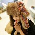2017 winter warm mujeres aviator trapper sombrero con orejeras orejeras caps invierno sombrero espesar esquí cap protección auditiva del sombrero del bombardero
