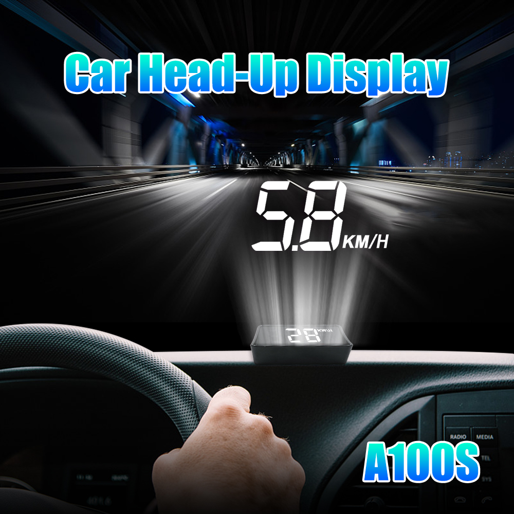 Image 2 - Newest A100S With Lens Hood Windshield Projector OBD2 II EUOBD Car HUD Head Up Display Overspeed Warning System Voltage Alarm-in Head-up Display from Automobiles & Motorcycles